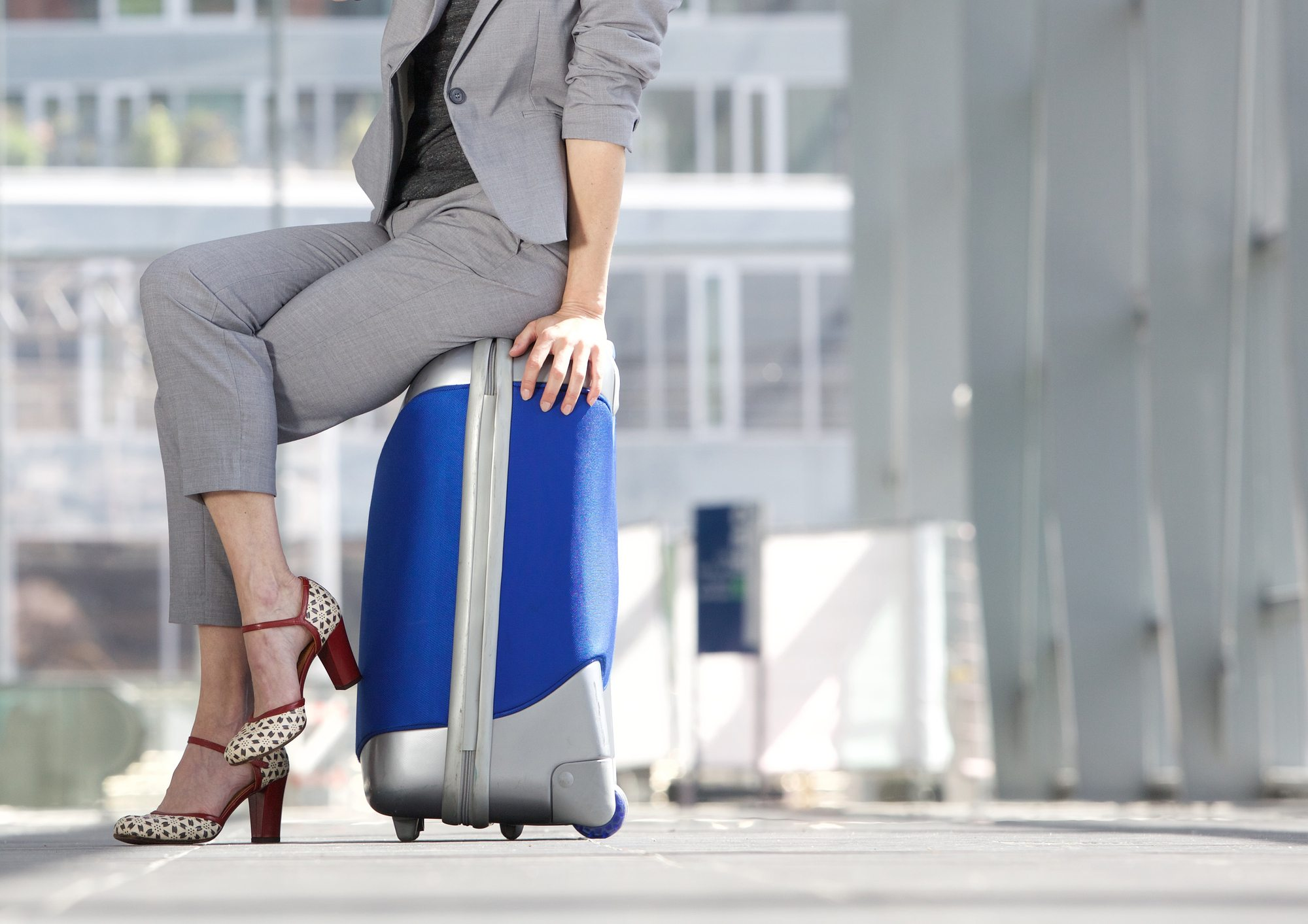Business travel tip for safety: keep luggage nearby when traveling
