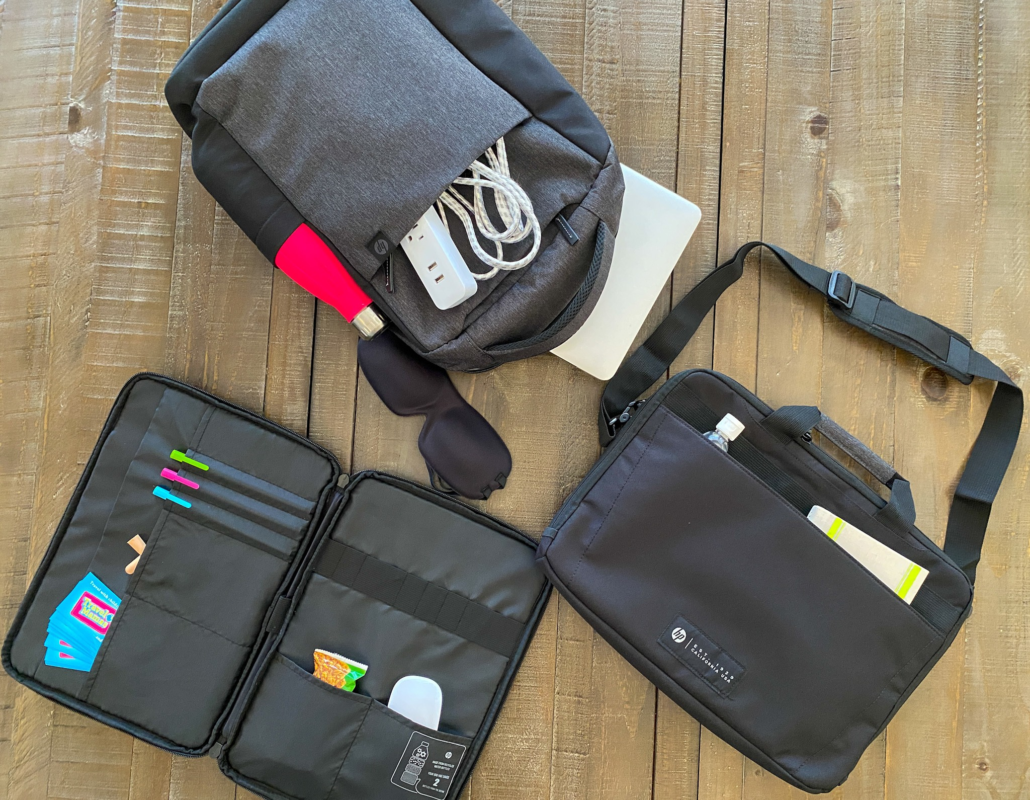 HP travel bags make business travel more comfortable and convenient