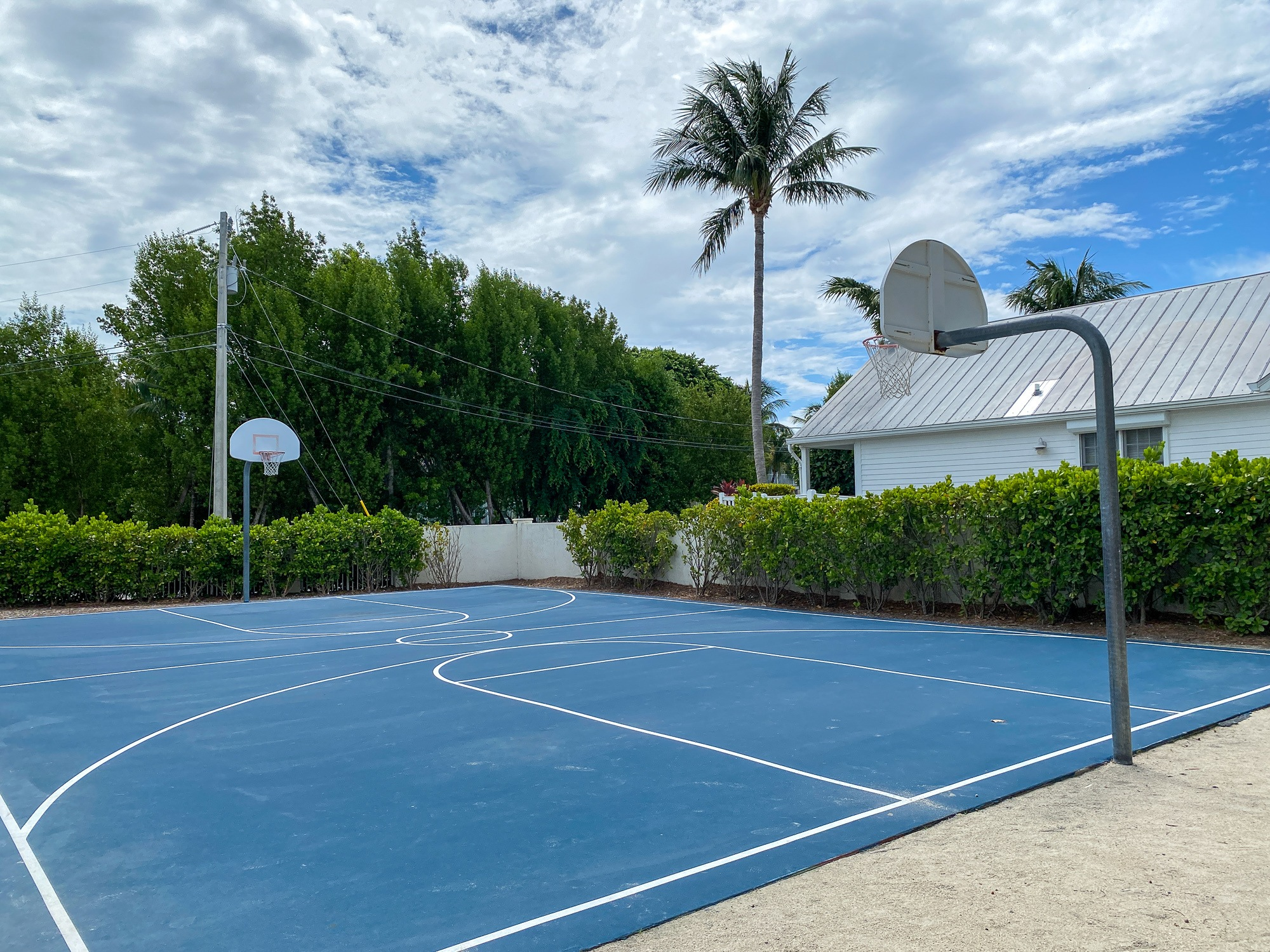 Basketball court at Coral Cay