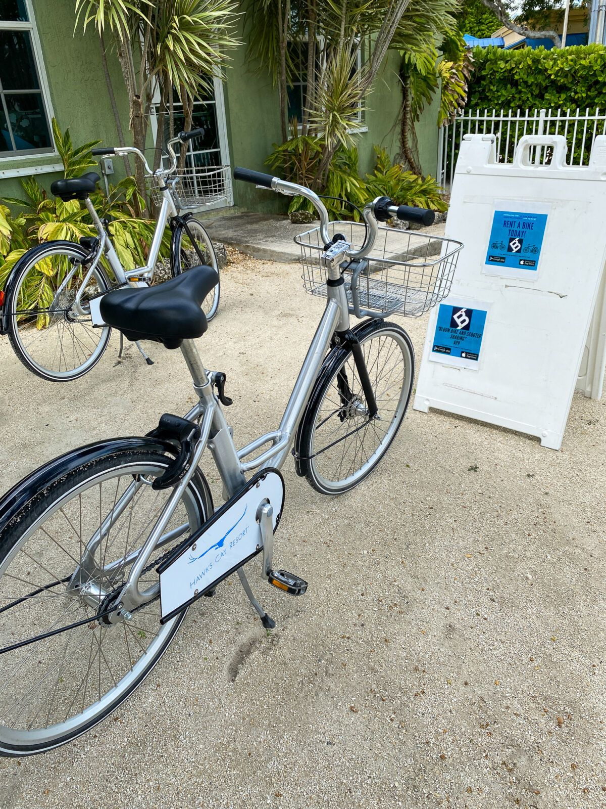 Bicycles for rent on Duck Key in the Florida Keys