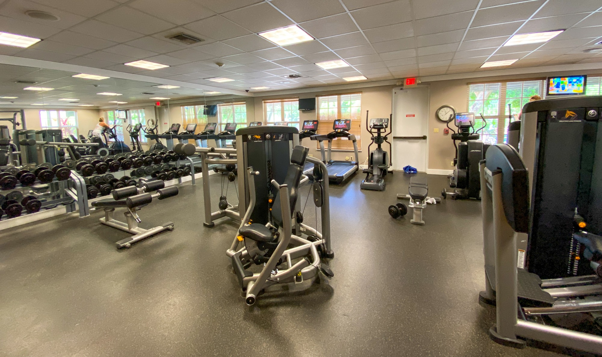 Gym at Calm Waters Spa