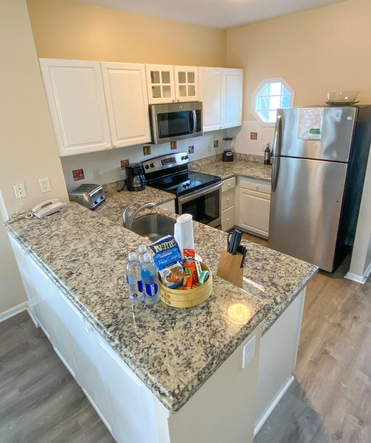 Kitchen in two-bedroom villa at Hawks Cay Resort