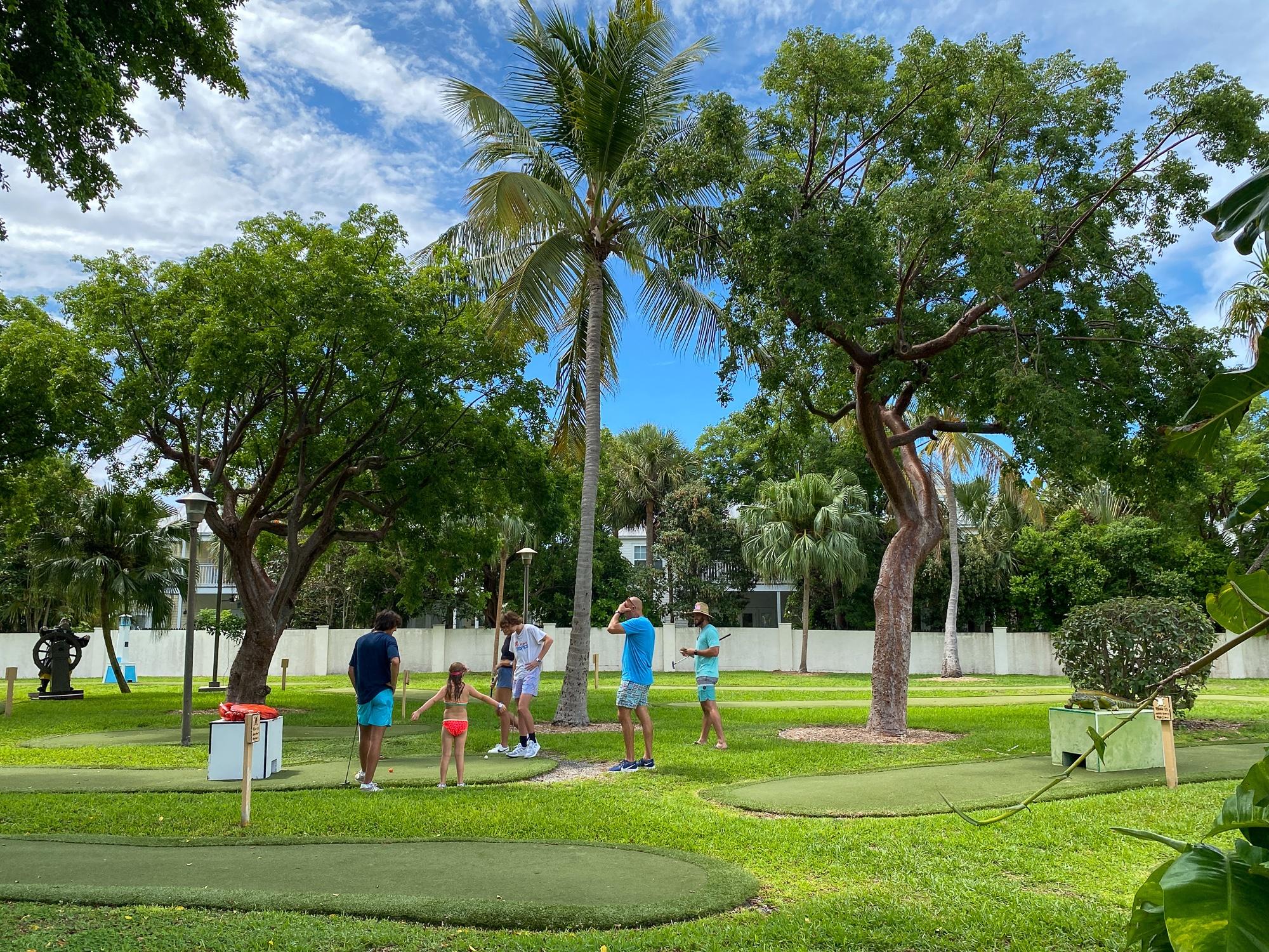 Miniature Golf at Hawks Cay Resort with kids