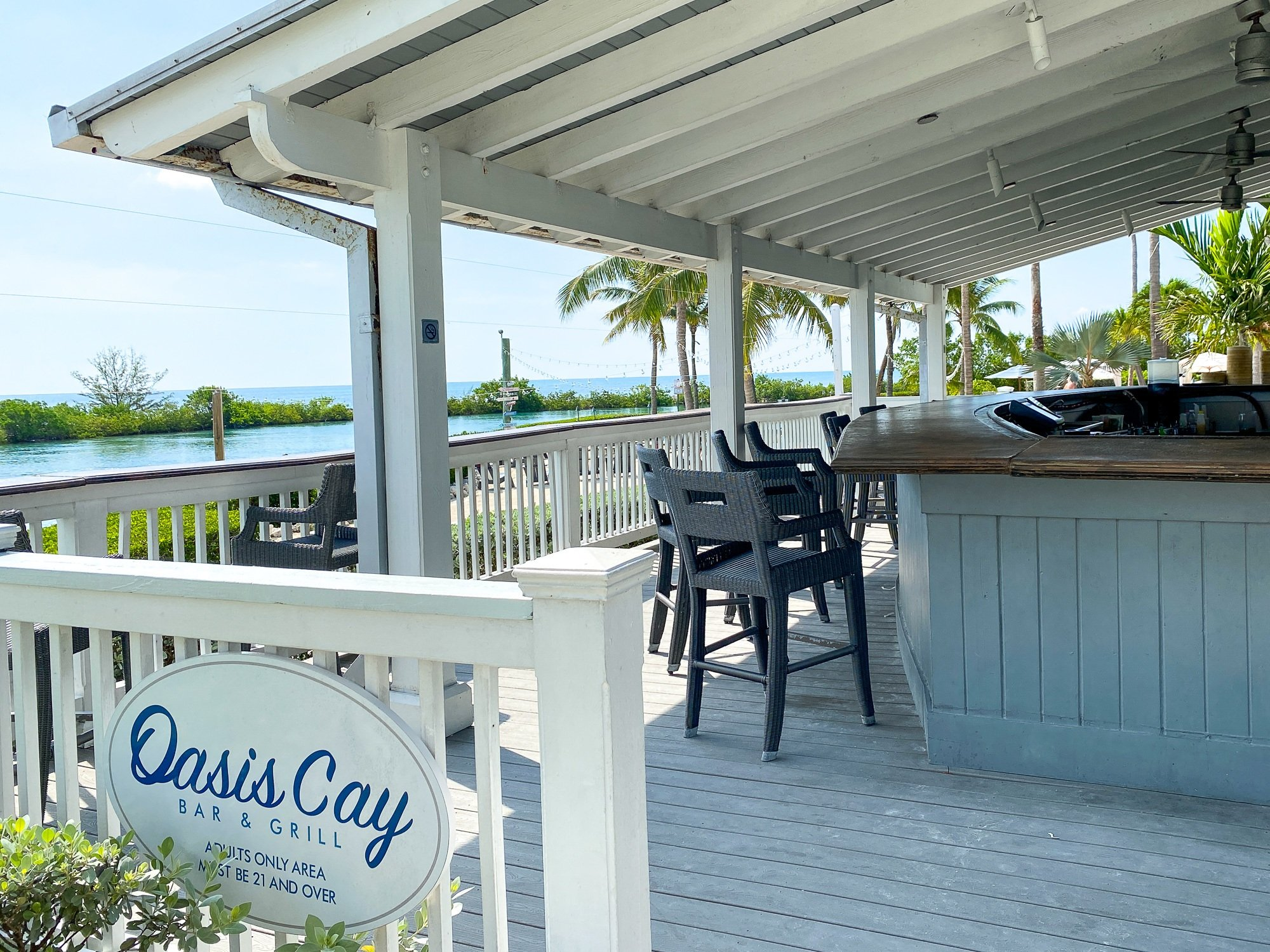 Oasis Cay Bar & Grill for adults only