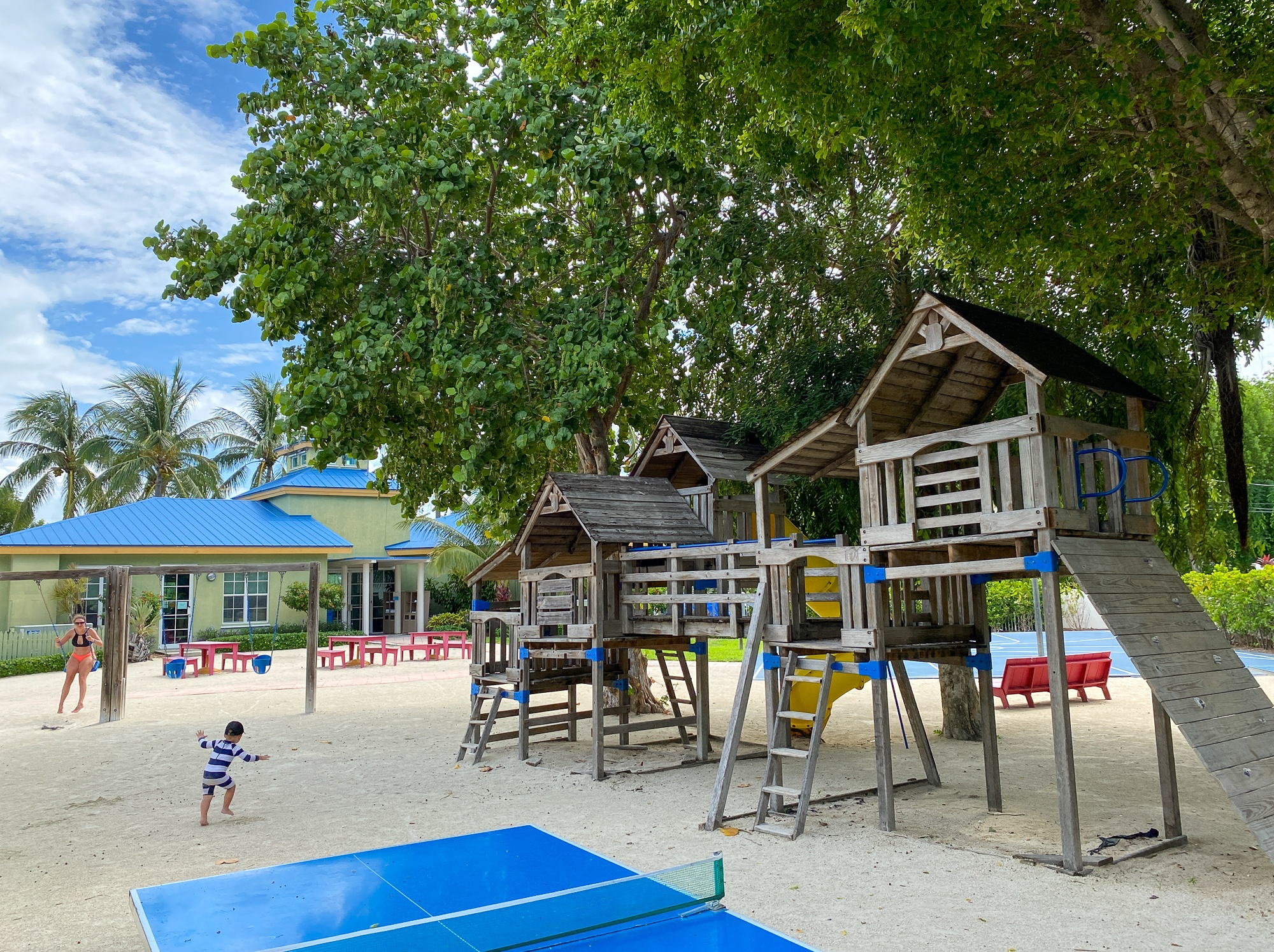 Playground at Hawks Cay Resort with kids