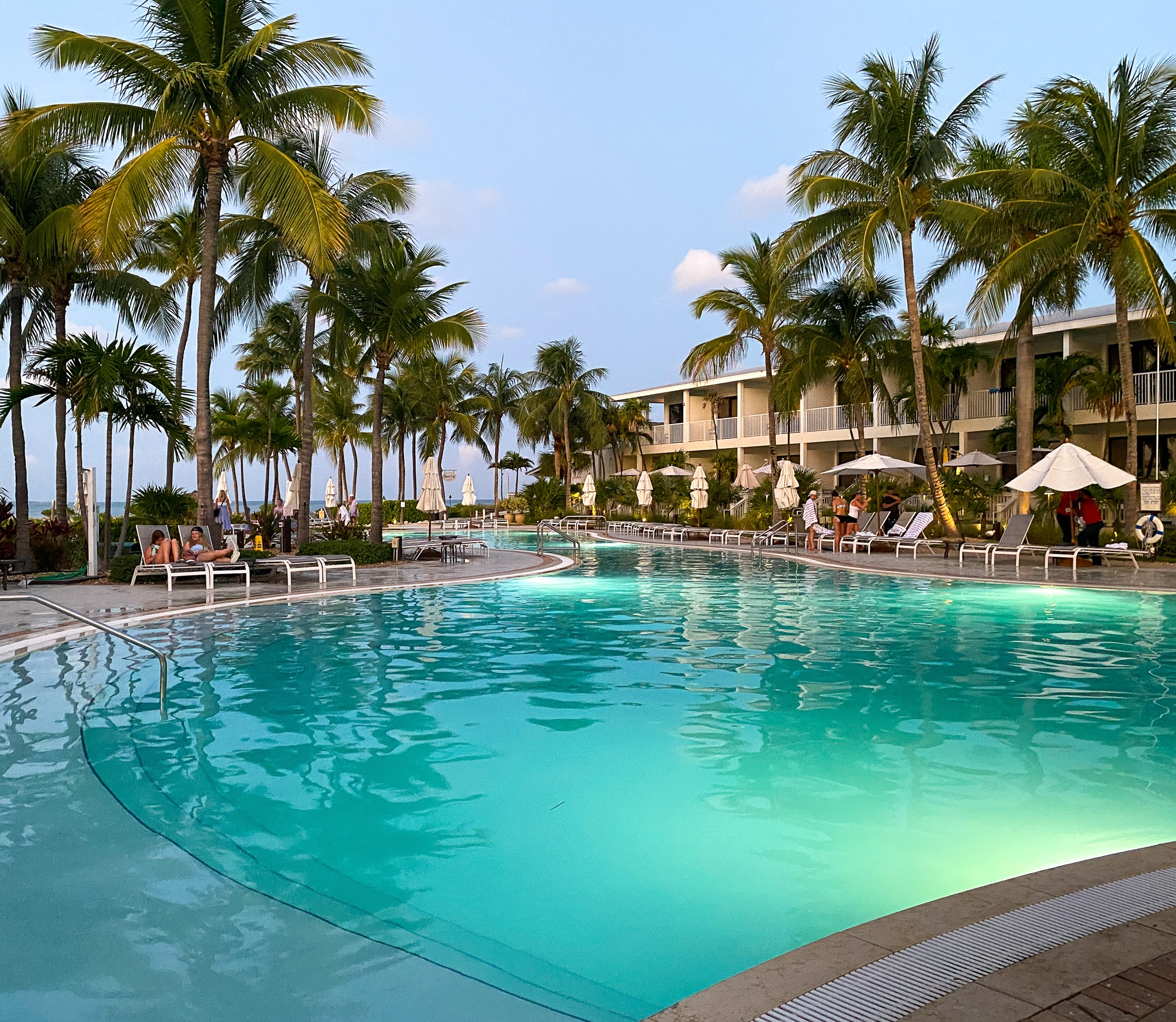 Serene evening at Hawks Cay Main Resort Pool
