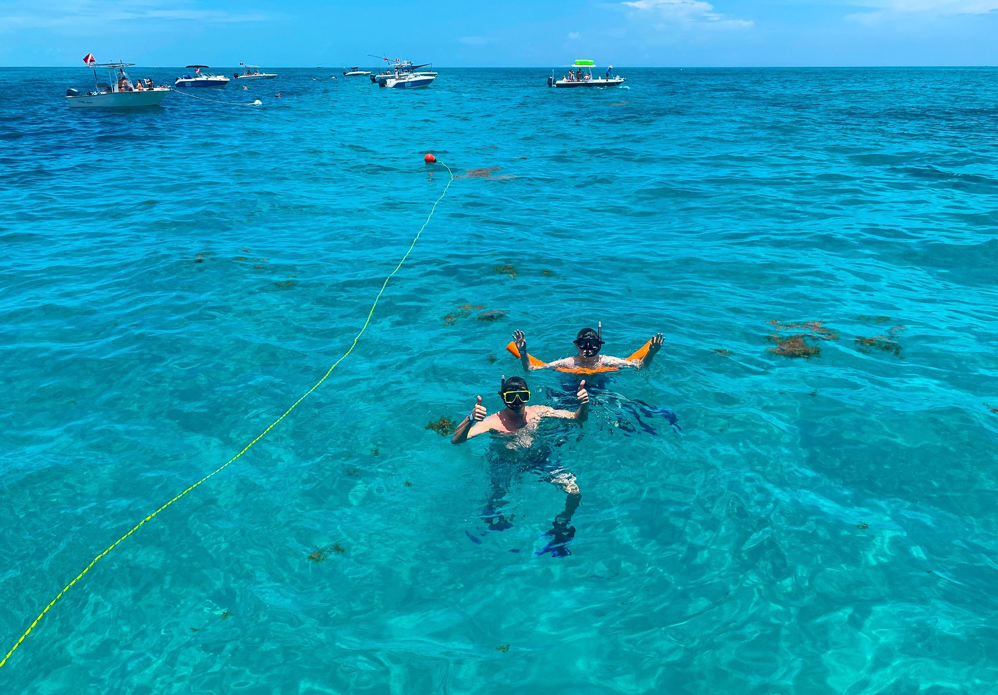 Snorkeling with Solé Watersports at Hawks Cay Resort with kids