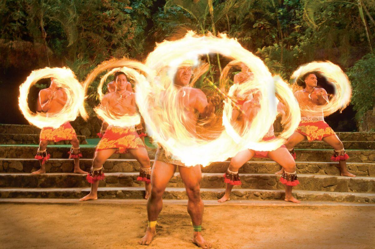 Fire dancers at the Polynesian Cultural Center