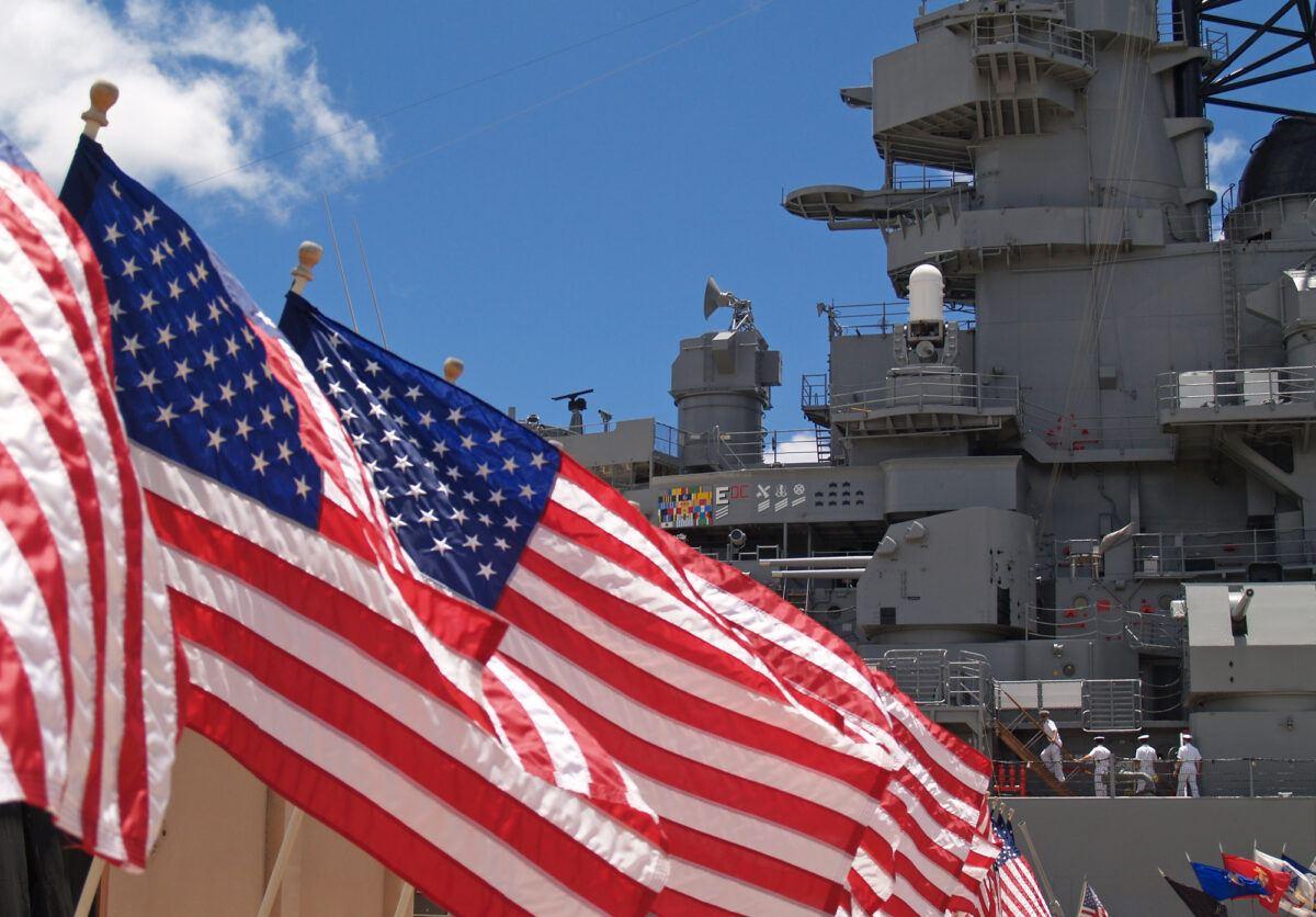 USS Missouri battleship at Pearl Harbor