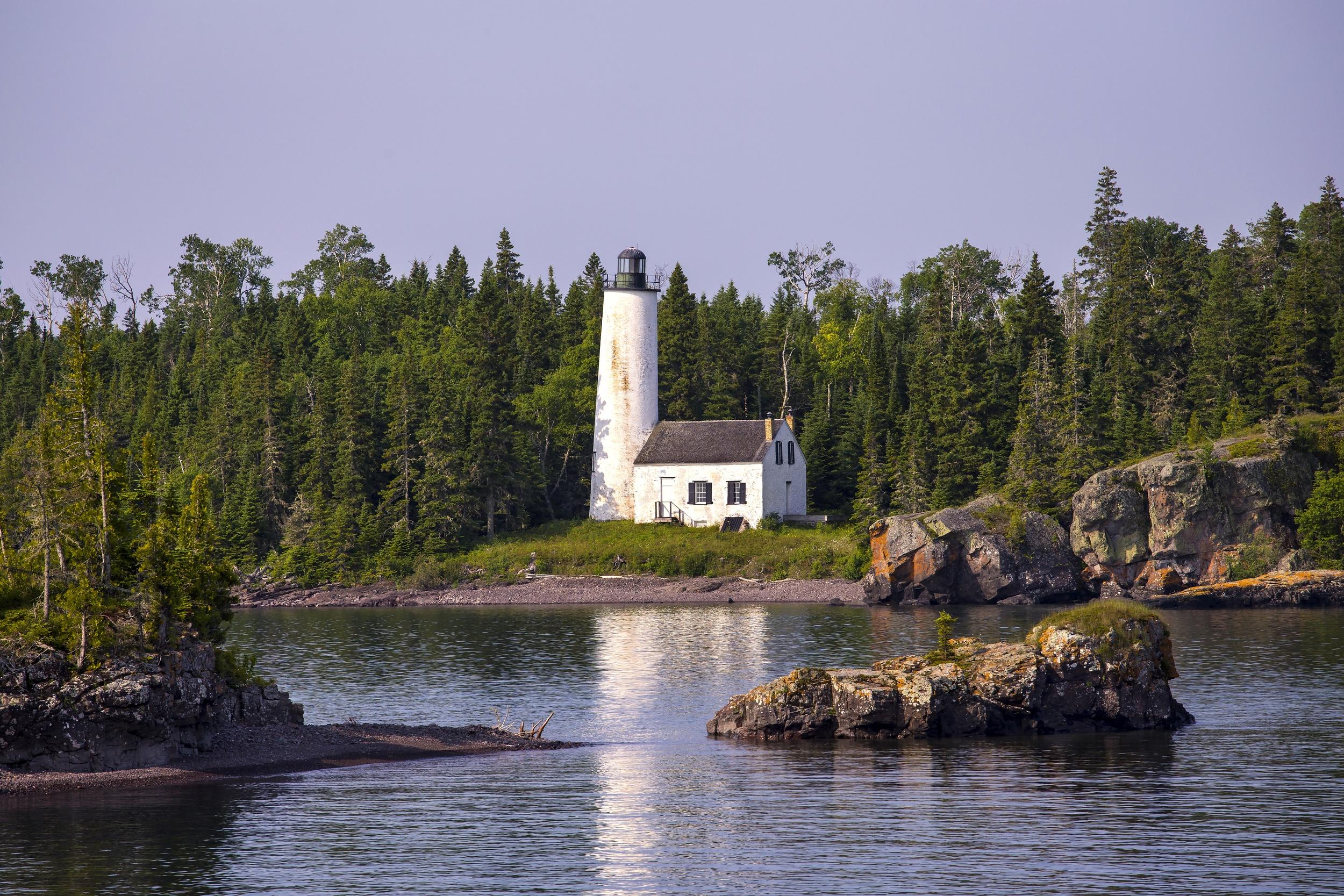 Isle Royale Light, a lighthouse in Isle Royale National Park