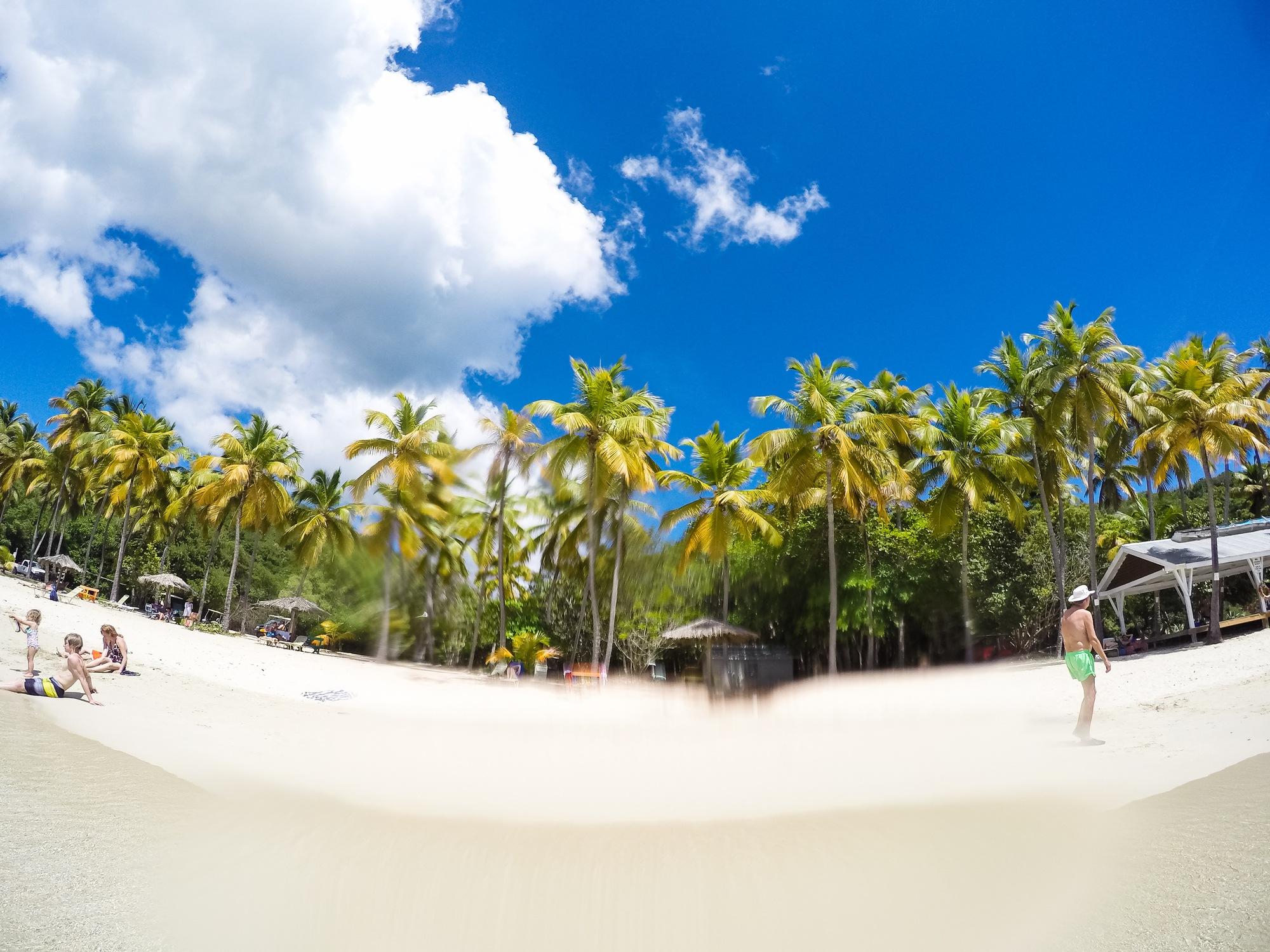 Honeymoon Beach in Virgin Islands National Park with kids