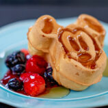 Disneyland character dining Mickey Mouse waffle